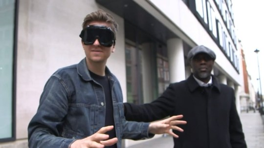 Greg James is locked in Radio 1?s Escape Room! (Picture: BBC Radio 1)