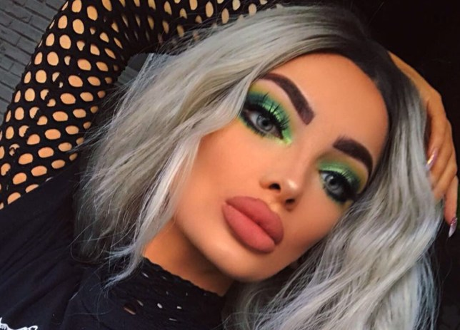 PIC FROM Kennedy News and Media (PICTURED: SHAUNA SARGEANT, 22, WAS INSPIRED BY HER BULLIES TO DO A 'GREEN WITH ENVY' MAKEUP LOOK) A makeup artist who suffers daily ridicule over her ??1,300 fake lips has hit back at 'jealous and bitter' internet bullies who branded her a ???train wreck you can???t stop looking at???. Shauna Sargeant is constantly subjected to cruel taunts from internet trolls who steal photos of her latest makeup looks and post them with nasty comments mocking her large lips. The 22-year-old finds her pictures plastered across social media almost every day with hurtful captions such as 'trout pout' and 'fish lips'. Another described her as 'someone who got the laughs sucked out of them???. But Shauna refuses to let it get her down as she loves her luscious lips, which contain 4ml of fillers, and works hard to pay for them. The freelance beautician is adamant that people who insist on ???slating??? her must be jealous - and even did a ???green with envy??? inspired makeup look to hammer home her defiance. SEE KENNEDY NEWS COPY - 0161 697 4266