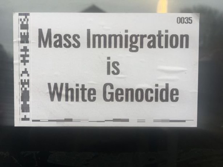 A police investigation will be carried out after racist stickers were found on people's properties. Residents in St Audrey Lane and Langley Close, St Ives, reported the anti-immigrant propaganda to police this morning (February 18) after spotting them on their doors and lampposts in the Cambridgeshire town.
