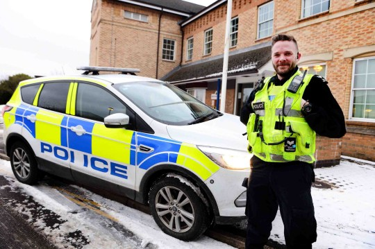 """A 'supercop' has turned to Twitter to justify a hard-earned cup of coffee. Sergeant Mike Templeman had been on shift for seven and a half hours with no break, when his team popped for a drink in the early hours of Sunday morning. But one member of the public was not happy at the Lincolnshire Police officer's on-shift refreshment. Sgt Templeman, star of Police Interceptors and a 'Beast from the East' double lifesaver, was forced to shrug off a sly, """"cheap shot"""" remark. Sgt Mike Templeman, of Lincolnshire Police, who along with fellow officers, waded through deep snow, in treacherous conditions near Louth, to rescue a stranded motorist and his daughter's birthday cake! Picture: Rick Byrne PICTURE: Rick Byrne / Grimsby Telegraph Buy this photo at www.grimsbytelegraph.co.uk/buyaphoto or by contacting 03444 060 910 There are pictures from this story. REQUESTED BY: story by Peter Craig CONTACT: DATE: 02/03/2018 POSTCODE: KEYWORDS:"""