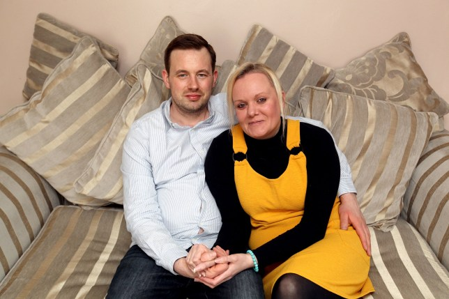 PIC FROM Caters News - (PICTURED:Tara Gratton, 37, from Stakeford, Northumberland, with her partner Stuart Pretswell, 34) - A woman who underwent pioneering surgery to have her vagina rebuilt using her BOWEL is now waiting for a womb transplant in a bid to finally become a mum. Tara Gratton, 37, claims doctors were left baffled by her partially formed vagina before she was diagnosed with Mayer-Rokitansky-Kuster-Hauser syndrome (MRKS) a congenital disorder that affects the female reproductive system.SEE CATERS COPY