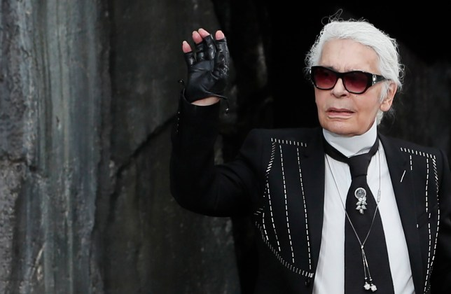 epa07380299 (FILE) - German designer Karl Lagerfeld appears on the catwalk after the presentation of his Spring/Summer 2018 Ready to Wear collection by German designer Karl Lagerfeld for Chanel fashion house during the Paris Fashion Week, in Paris, France, 03 October 2017 (reissued 19 February 2019). According to media reports, Lagerfeld has died on 19 February 2019. He was 85. EPA/IAN LANGSDON