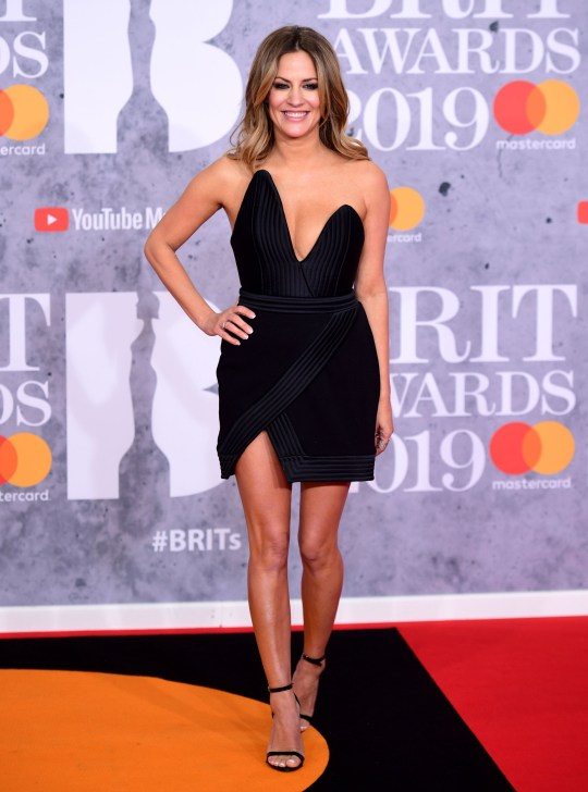 Caroline Flack attending the Brit Awards 2019 at the O2 Arena, London. PRESS ASSOCIATION PHOTO. Picture date: Wednesday February 20, 2019. See PA story SHOWBIZ Brits. Photo credit should read: Ian West/PA Wire. EDITORIAL USE ONLY.