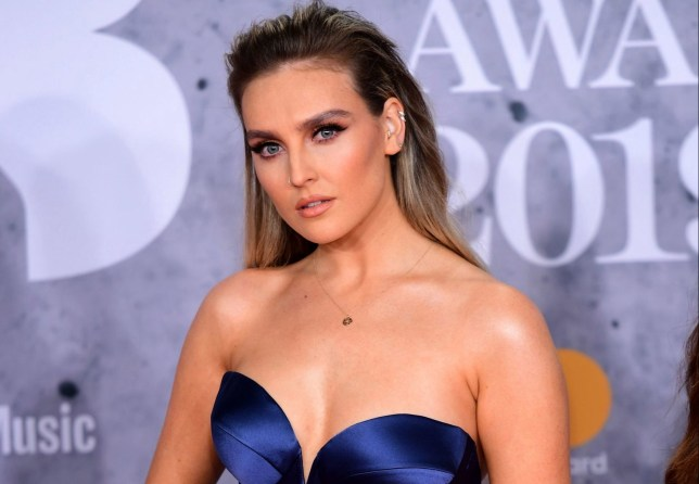 Perrie Edwards of Little Mix attending the Brit Awards 2019 at the O2 Arena, London. PRESS ASSOCIATION PHOTO. Picture date: Wednesday February 20, 2019. See PA story SHOWBIZ Brits. Photo credit should read: Ian West/PA Wire. EDITORIAL USE ONLY.