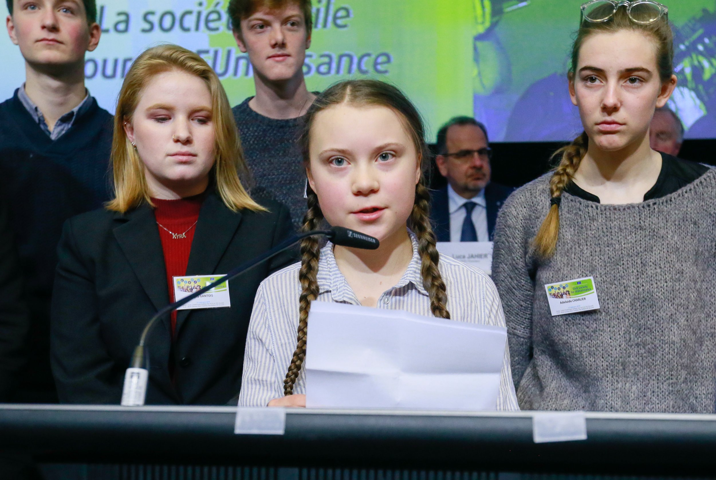 Young activist gives powerful speech telling EU why we should all go on climate strike