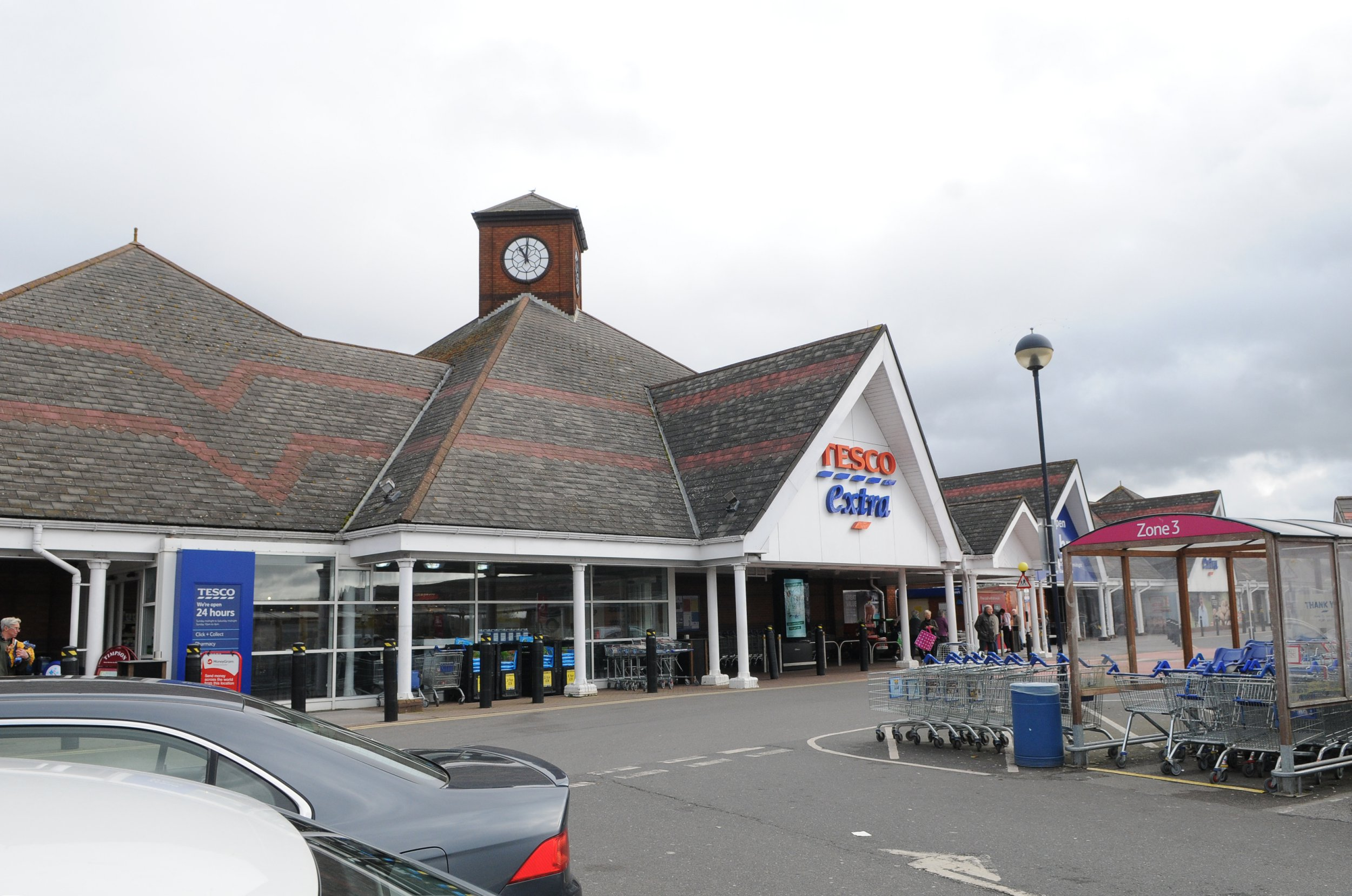 Drivers fined after getting trapped at Tesco because of bad traffic