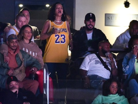 Rihanna has the time of her life at Los Angeles Lakers game with Saudi billionaire boyfriend