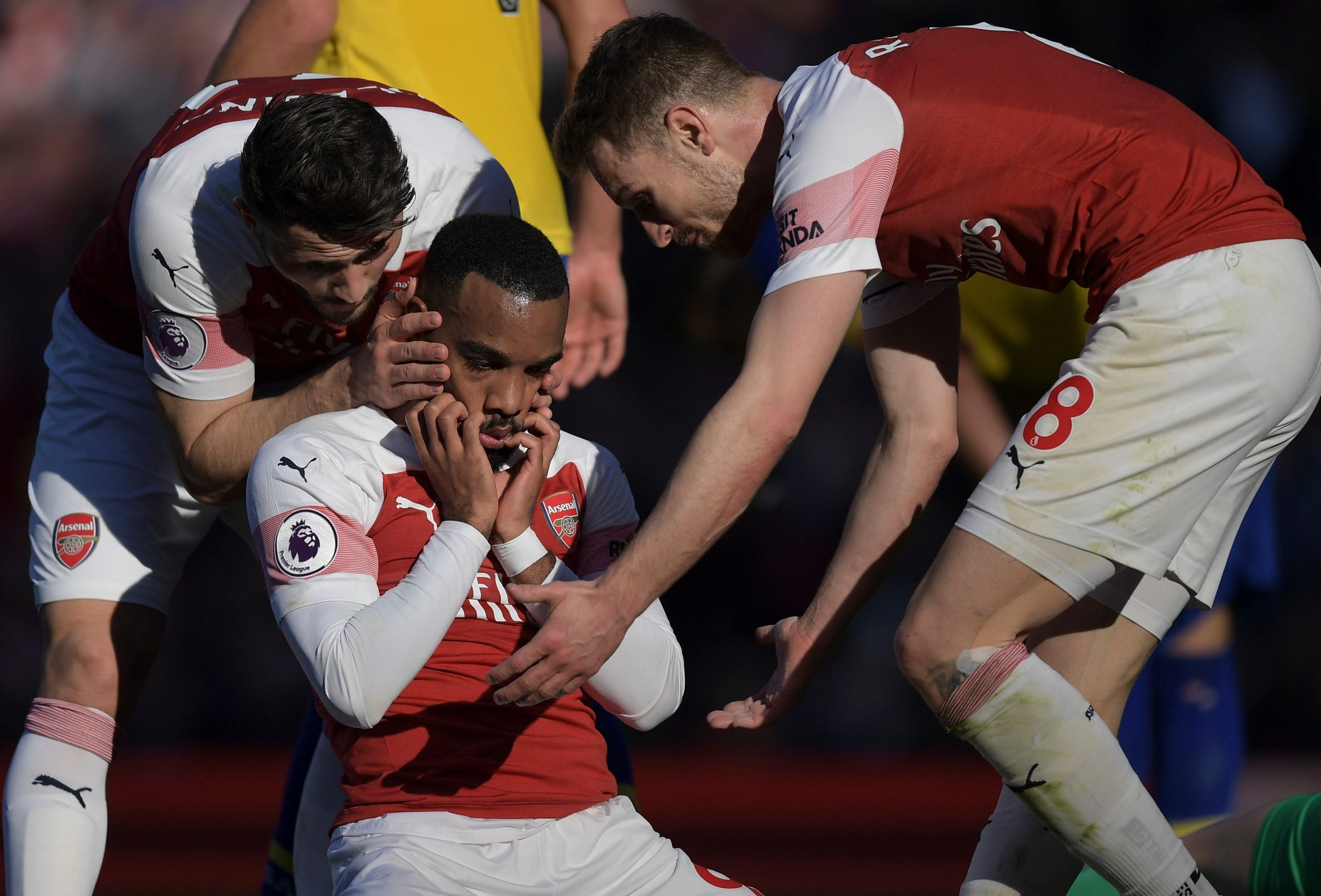 Alexandre Lacazette was gutted during Arsenal's win over Southampton, reveals Laurent Koscielny