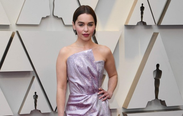 Emilia Clarke arrives for the 91st Annual Academy Awards at the Dolby Theatre in Hollywood, California on February 24, 2019. (Photo by Mark RALSTON / AFP)MARK RALSTON/AFP/Getty Images