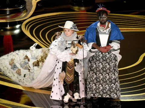 Melissa McCarthy steals show at Oscars 2019 with rabbit dress as she presents costume design award
