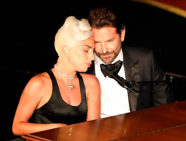 "91st Academy Awards - Oscars Show - Hollywood, Los Angeles, California, U.S., February 24, 2019. Lady Gaga and Bradley Cooper perform ""Shallow"" from ""A Star Is Born."" REUTERS/Mike Blake"