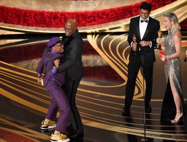 Mandatory Credit: Photo by Rob Latour/REX (10112915fr) Spike Lee - Adapted Screenplay - ?BlacKkKlansman? and Samuel L. Jackson 91st Annual Academy Awards, Show, Los Angeles, USA - 24 Feb 2019