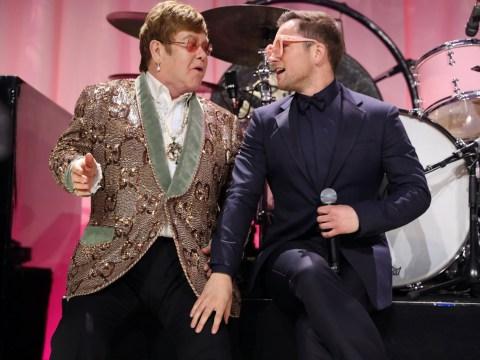 Elton John joined Rocketman's Taron Egerton for performance of Tiny Dancer at the Oscars