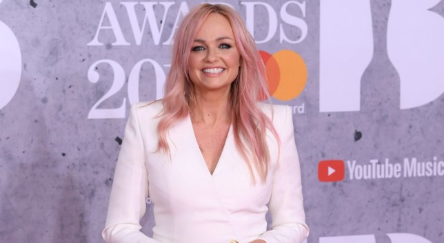 Mandatory Credit: Photo by David Fisher/REX/Shutterstock (10110752nc) Emma Bunton 39th Brit Awards, Arrivals, The O2 Arena, London, UK - 20 Feb 2019