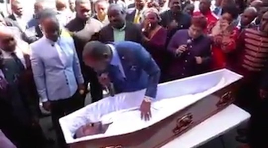 Grabs: Undertakers sue pastor for 'raising man back from the dead' at one of their funerals