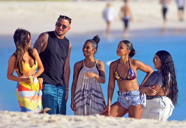 EXCLUSIVE: Lil Kim, Mya, Tlc and other celebs pictured on video shoot on the beach in Barbados. 25 Feb 2019 Pictured: Lil Kim, Mya, Tlc. Photo credit: 246paps/MEGA TheMegaAgency.com +1 888 505 6342