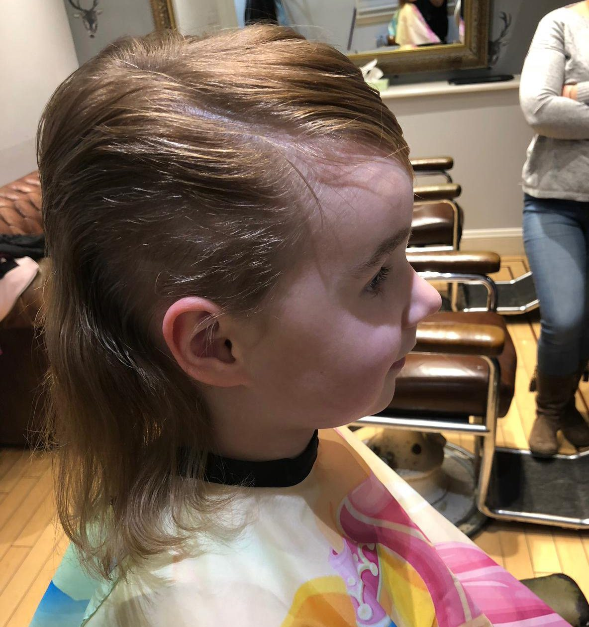 Sam Barr's 5-year-old daughter Jemma cut her hair after falling prey to sick Momo hackers and had to have a restyle at a hair salon.