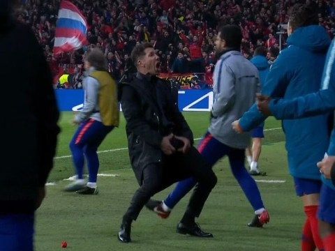 Diego Simeone explains why he grabbed his balls in celebration as Atletico Madrid beat Juventus