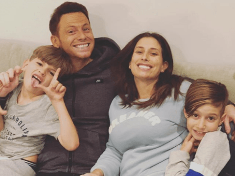 Stacey Solomon cuddles up to Joe Swash and sons for cute family snap after announcing pregnancy