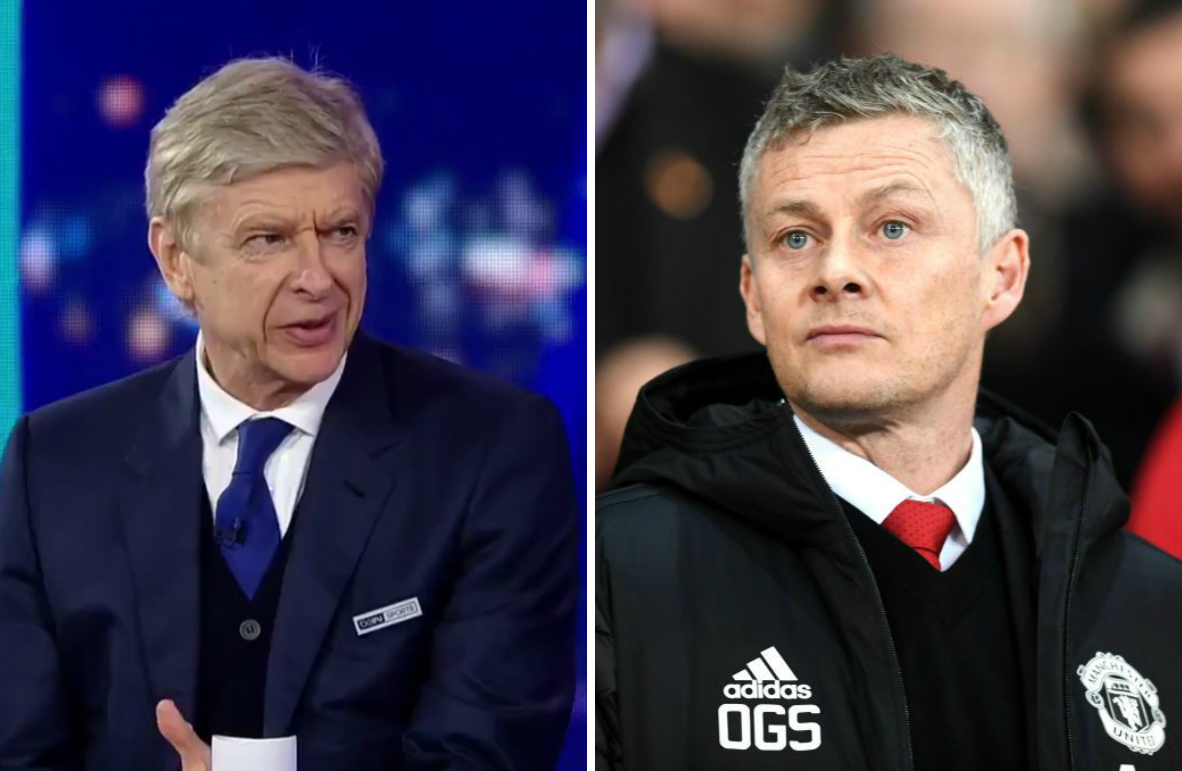 Arsene Wenger criticises Manchester United's performance in their Champions League defeat to PSG