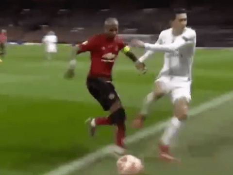 Ashley Young ends Angel Di Maria's Manchester United career for a second time during Paris Saint-Germain clash