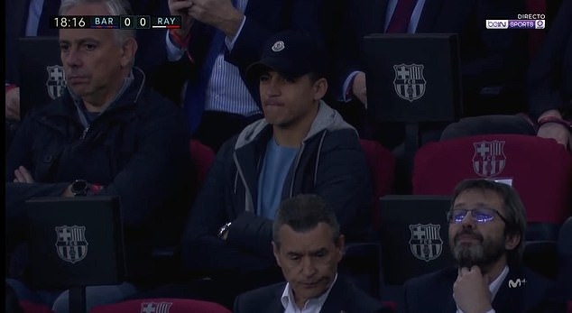 Alexis Sanchez attends Barcelona match as Manchester United team-mates prepare for Arsenal clash