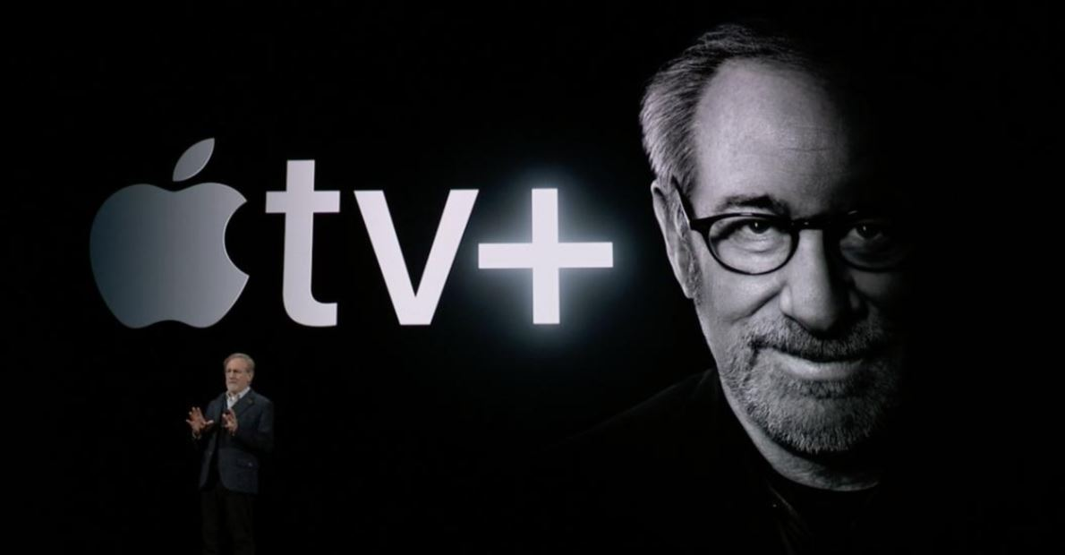 Steven Spielberg pictured at the Apple TV+ launch