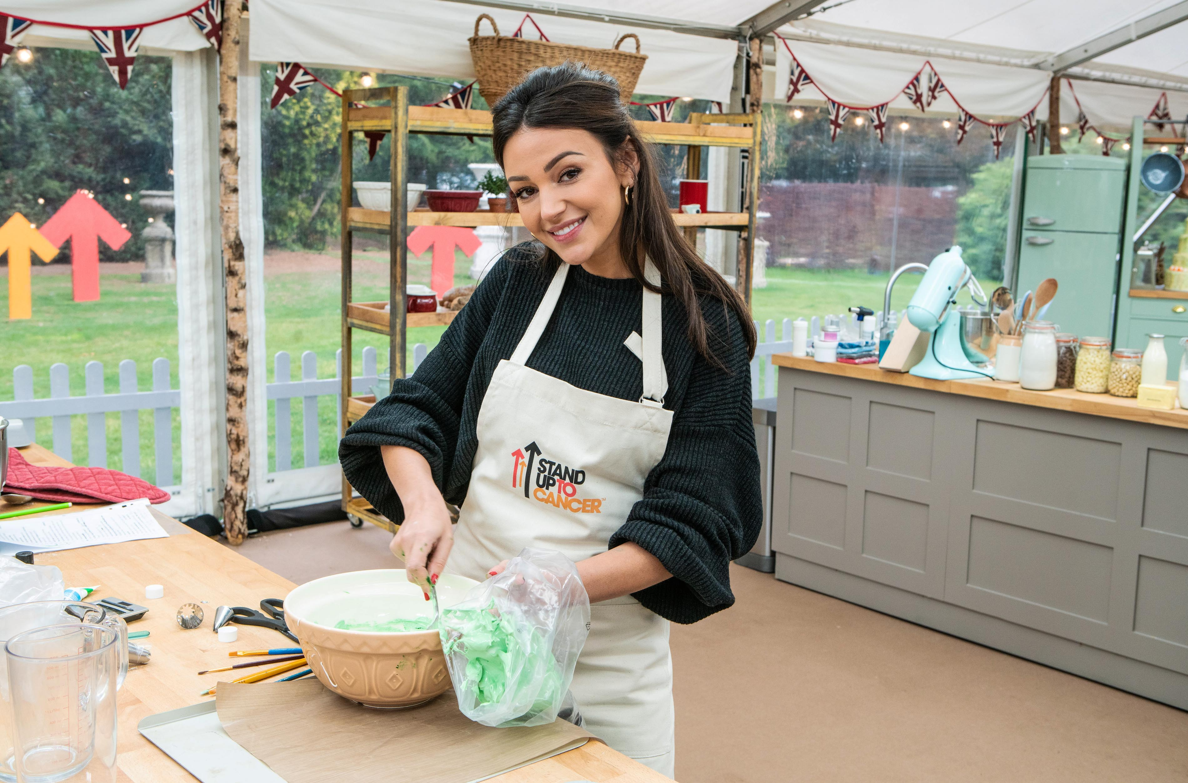 Michelle Keegan in The Great Celebrity Bake Off