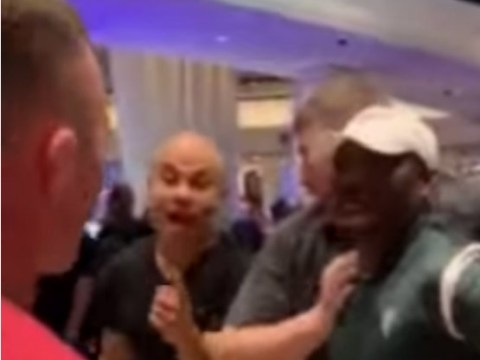 UFC champion Kamaru Usman confronts title challenger Colby Covington in casino melee