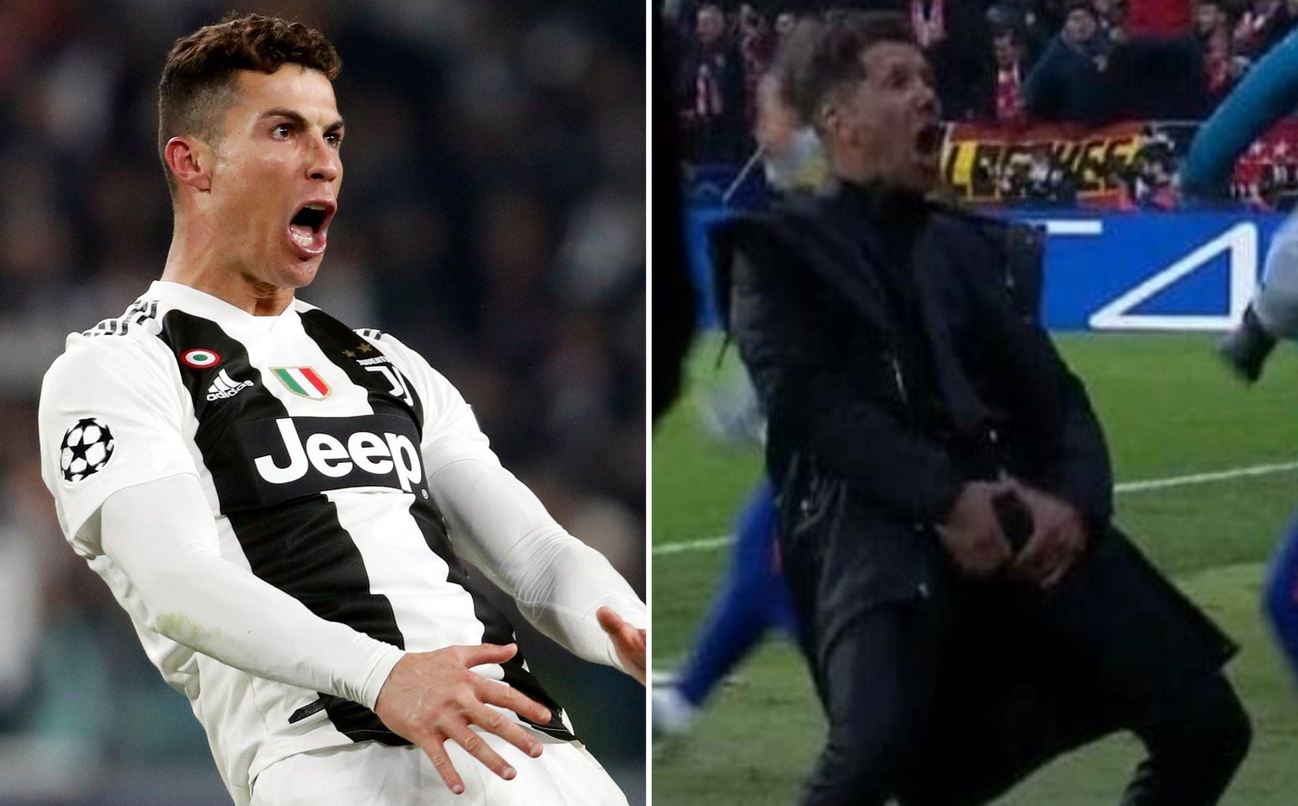 Diego Simeone responds to Cristiano Ronaldo copying his celebration after Juventus beat Atletico Madrid