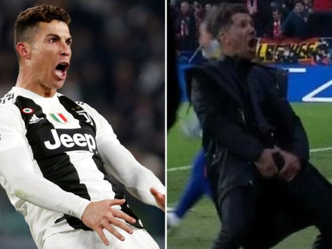 Diego Simeone responds to Cristiano Ronaldo copying his celebration after Juventus beat Atletico Madrid