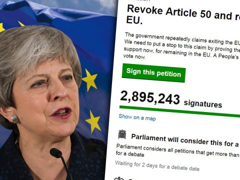 How to find and sign the revoke Article 50 petition