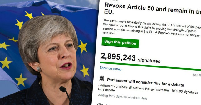theresa may and the petition to revoke article 50