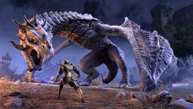 Elder Scrolls Online: Elsweyr - that's a big dragon