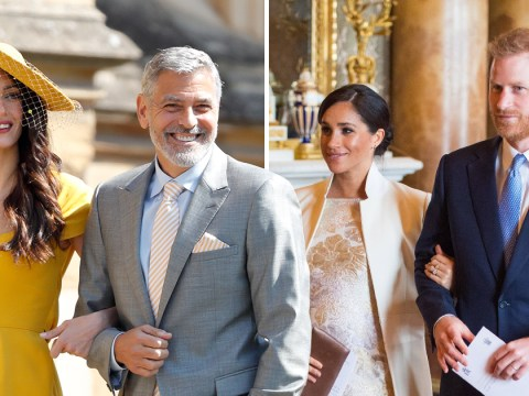 George Clooney teases the Americans are invading Buckingham Palace