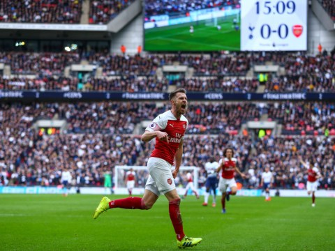 Arsenal fans loved what Aaron Ramsey shouted after scoring against Tottenham at Wembley