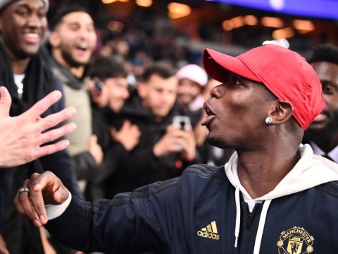 Paul Pogba and Patrice Evra celebrate stunning Manchester United win in PSG stands