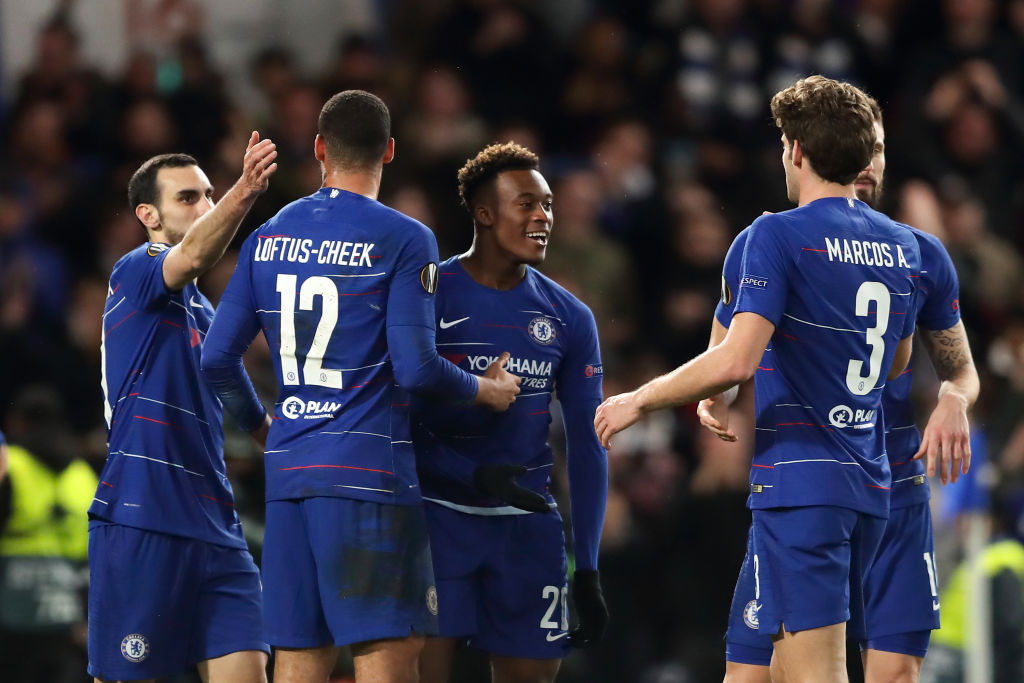 Maurizio Sarri sends message to goalscorer Callum Hudson-Odoi after Chelsea beat Dynamo Kiev