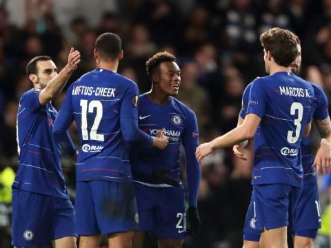 Maurizio Sarri sends message to goalscorer Callum Hudson-Odoi after Chelsea beat Dynamo Kiev
