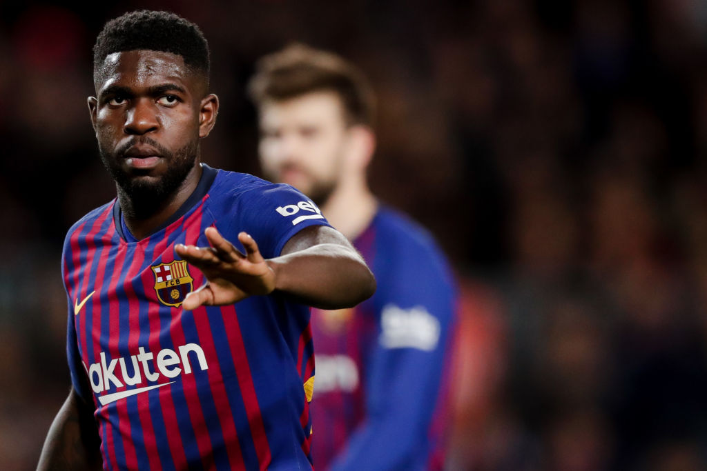 Barcelona set asking price for Arsenal and Manchester United target Samuel Umtiti