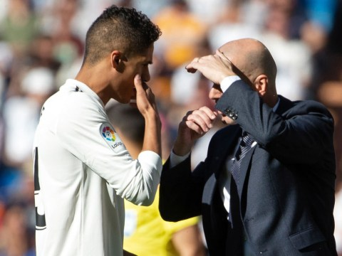 Manchester United transfer target Raphael Varane happy at Real Madrid claims Zinedine Zidane