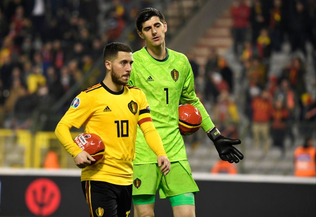 Eden Hazard teases Thibaut Courtois after mistake against Russia