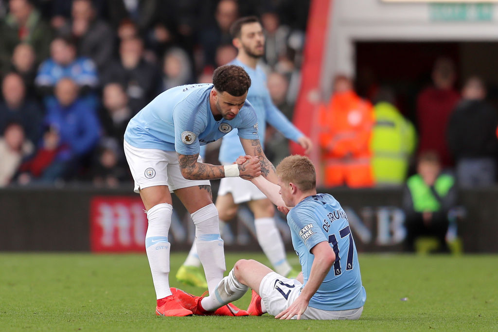 Man City's Kevin De Bruyne plays down latest injury concerns after hamstring strain against Bournemouth