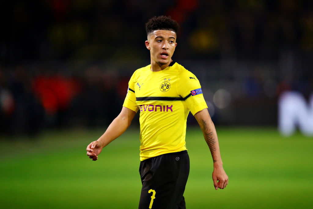 Borussia Dortmund star Jadon Sancho names the two players he looks up to