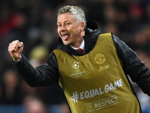Manchester United fans think bib-wearing Ole Gunnar Solskjaer is getting ready to sub himself on against PSG