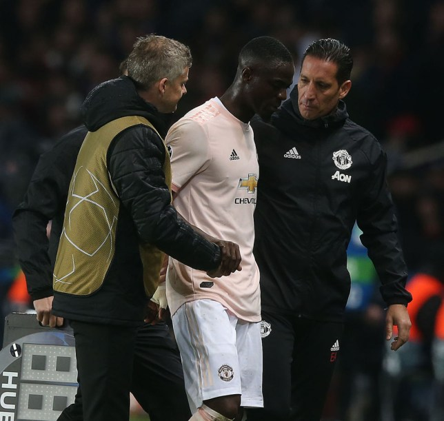 8478e95717b0 Eric Bailly doubtful for Arsenal clash after limping out of Champions  League win against Paris Saint-Germain