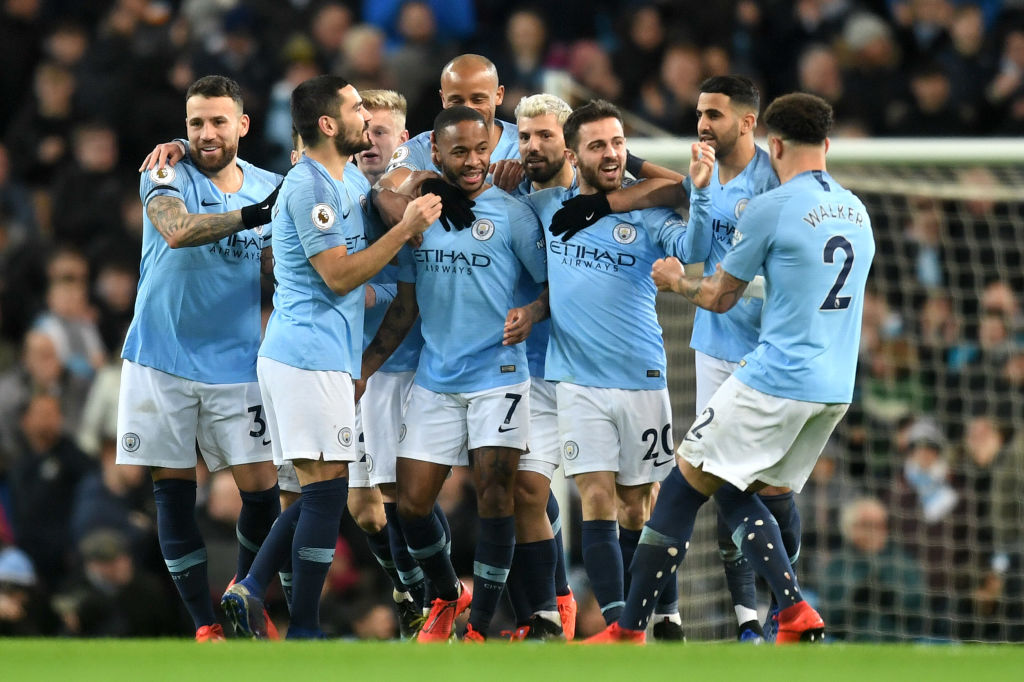 Raheem Sterling Hat Trick Sends Manchester City Four Points Clear Of Liverpool After Watford Win