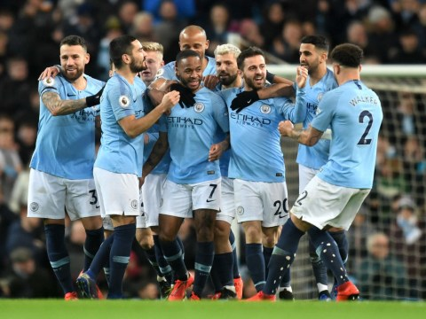 Raheem Sterling hat-trick sends Manchester City four points clear of Liverpool after Watford win