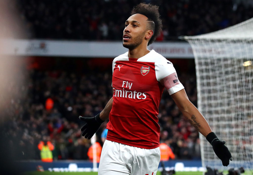 What Alexandre Lacazette told Pierre-Emerick Aubameyang before Arsenal's penalty against Man Utd