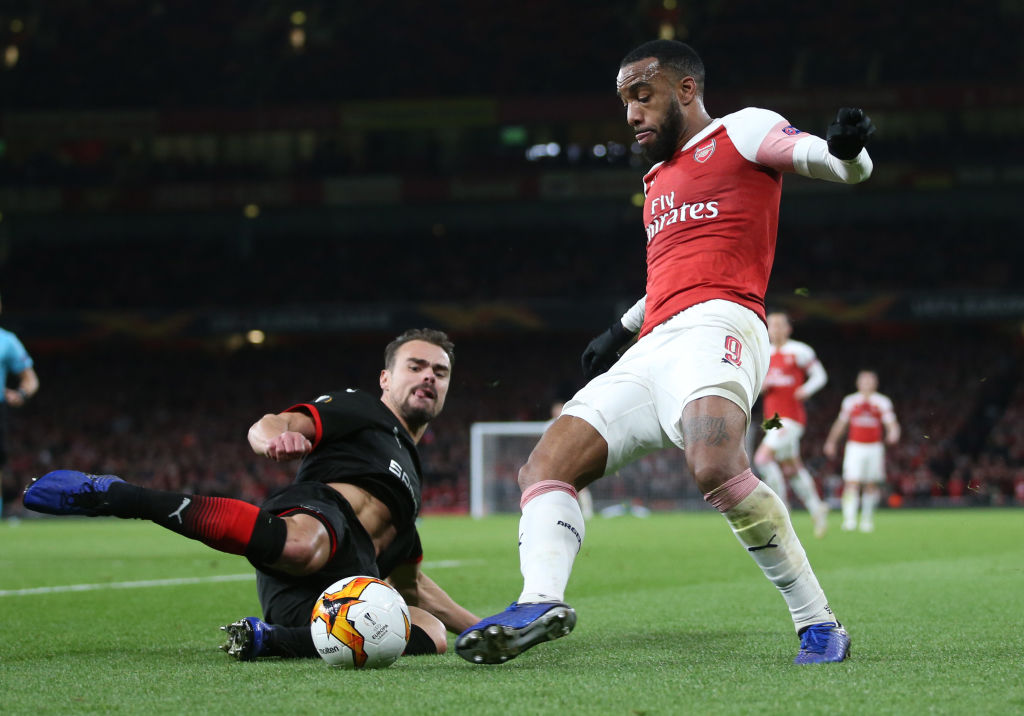 Arsenal star Alexandre Lacazette twice avoided red card, says Rennes coach